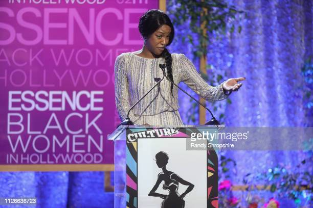 Charmaine Lewis speaks onstage during the 2019 Essence Black Women in Hollywood Awards Luncheon at Regent Beverly Wilshire Hotel on February 21 2019...