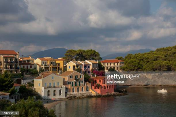 Charming and cozy little Assos, a village near the sea, northern Kefalonia island, Greece