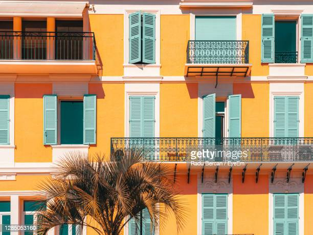 charming architecture of cannes city in france - cannes stock-fotos und bilder