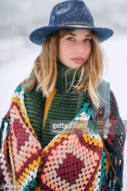 charming beauty - poncho stock pictures, royalty-free photos & images