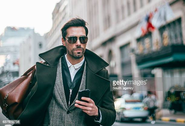 Charming gentleman with bag