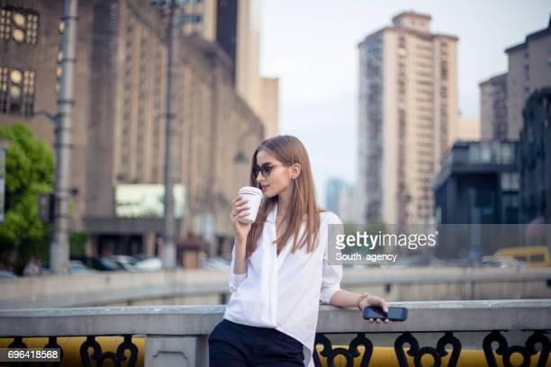 Charming girl downtown