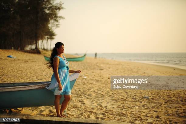 Charming Girl in the Beach Side