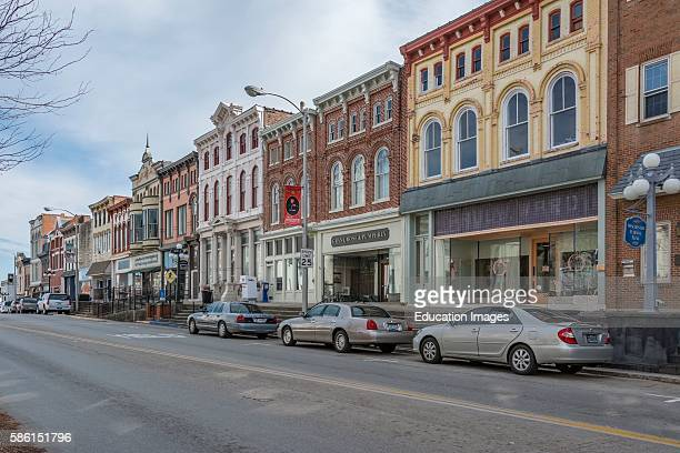Charming historic downtown Winchester Kentucky with its notable architecture on downtown main street