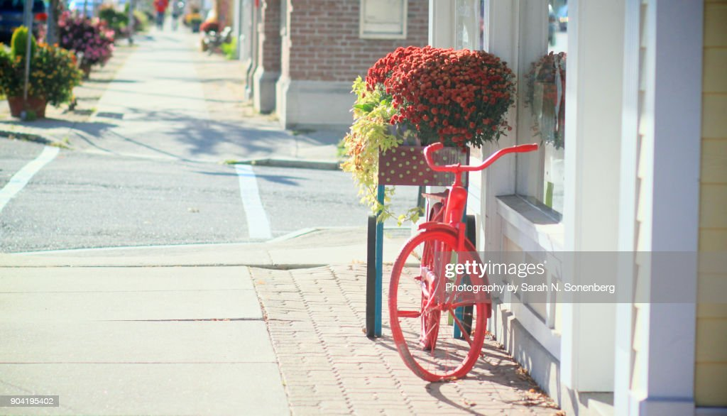 Charming Red Bicycle : Stock Photo