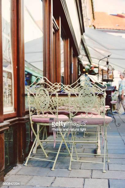 Charming vintage terrace. Bratislava, Slovakia