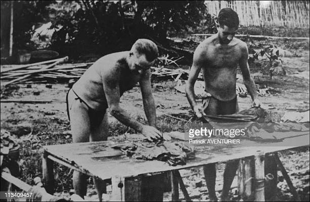 Charnel Near The Bridge River Kwai On November 1St,1990 - Documents From The Time,Kept In The Various Small Museums In Kanchanaburi,Are Moving Tokens...