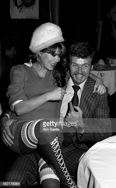 Charo and Kjell Rasten attend 50th Birthday Party for Rip Taylor on January 13 1981 at the Daisy in Los Angeles California