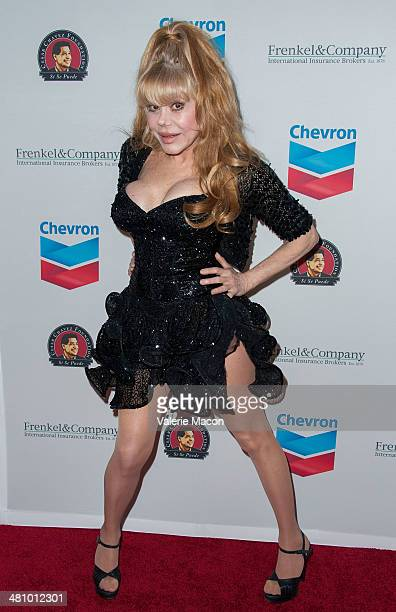 Charo arrives at The The Cesar Chavez Foundation's 2014 Legacy Awards Dinner at Millennium Biltmore Hotel on March 27 2014 in Los Angeles California