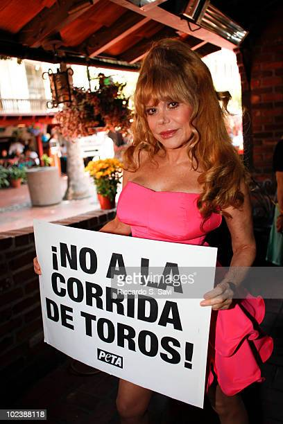 Charo attends the launch of a PETA Video & leads Anti-Bullfighting Rally On Olvera Street on June 24, 2010 in Los Angeles, California.
