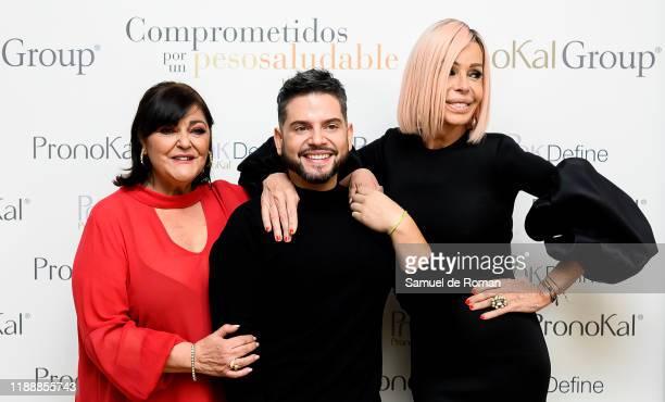 Charo Reina alberto Dugarte and Bibiana Fernandez attend PronoKal group presentation in Madrid on November 19 2019 in Madrid Spain