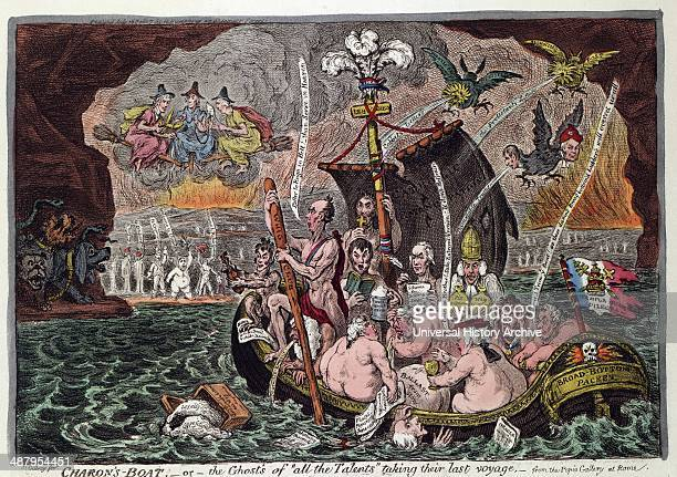 Charon's Boat or the Ghosts of 'all the Talents' taking their last voyage from the Pope's Gallery at Rome By James Gillray 17561815 engraver 1807 A...
