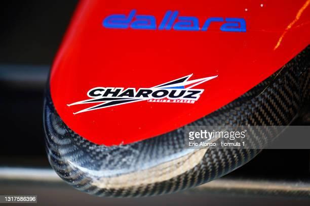 Charouz Logo is seen at Circuito de Jerez on May 12, 2021 in Jerez de la Frontera, Spain.