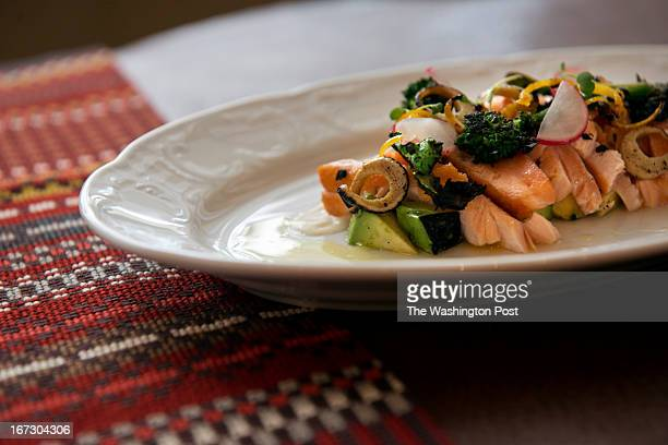 Charred Salmon Crudo with Grilled Avocado at Del Campo restaurant on Monday in Washington DC