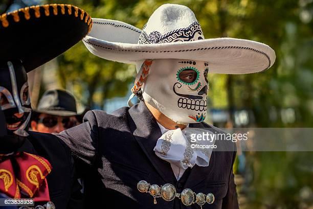 Charro or mariachi in Day of the dead in Mexico City