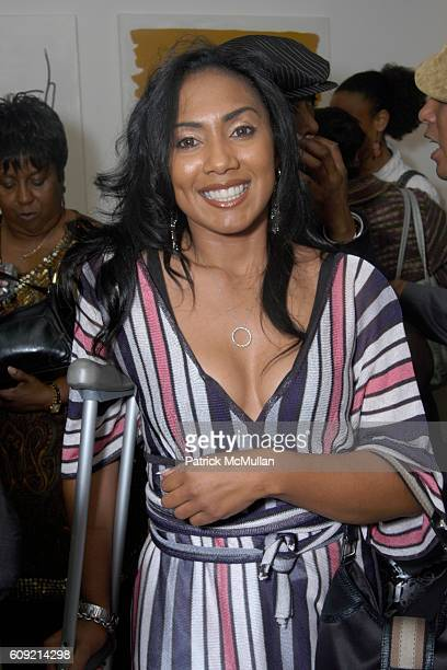 Charron Capri attends Olympic Artist Jesse Raudales Peace for the Children Art Show at Los Angeles on February 9 2007