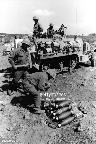 Chars syriens pendant la Guerre du Kippour en 1973 entre Israël et la Syrie