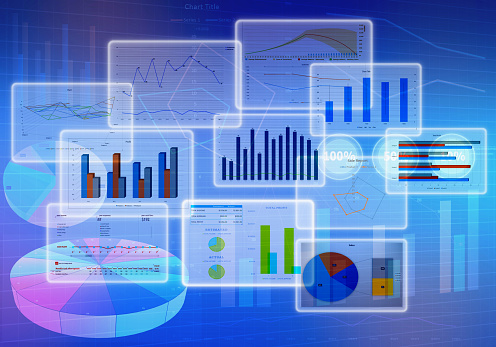 Chart diagrams and Business with financial symbols 485851820
