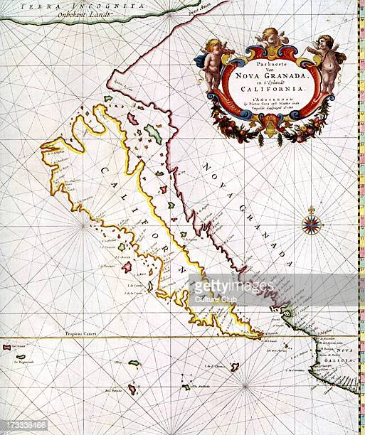 'Chart of New Granada and the 'Island' of California' published in Pieter Goo's 'Zee Atlas' Amsterdam 1666 Historically California was erroneously...