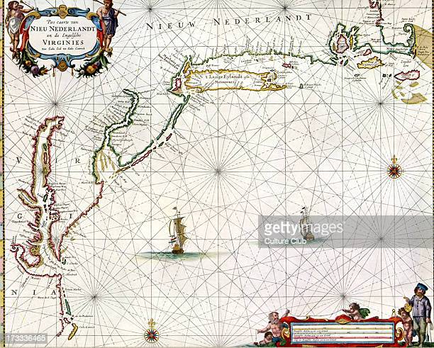'Chart of the Nieuw Nederlandt and Virginia' published in Pieter Goos' 'De Zee Atlas ofte WaterWeereld' Amsterdam 1666