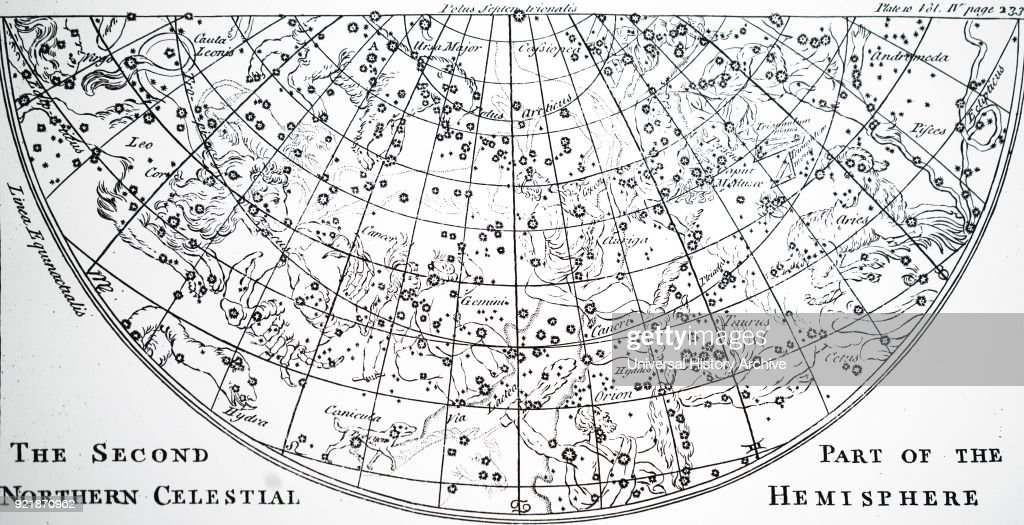 Chart of the second half of the star chart of the Northern Skies. : News Photo
