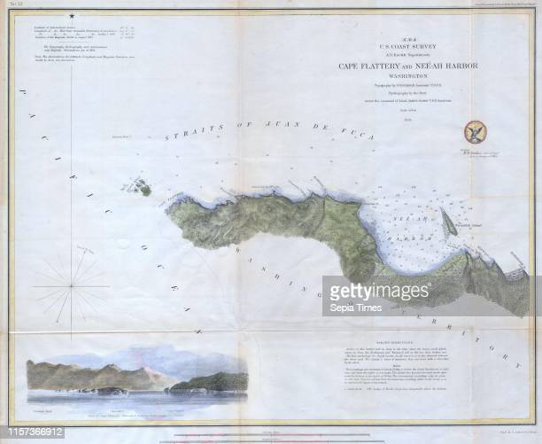 S Chart or Map of Cape Flattery and NeeAH Harbor Washington
