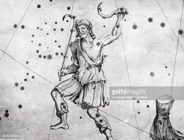Chart showing constellations in the region of Bootes Dated 18th century