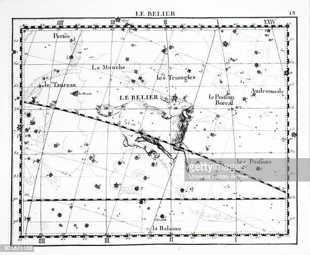 Chart showing the constellation of Aries Dated 18th century