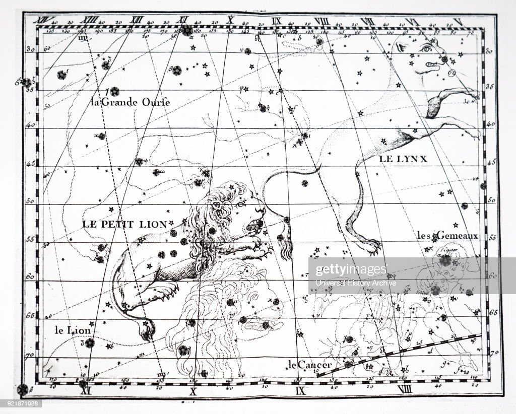 Chart showing the constellation of Leo Minor. Dated 18th century.