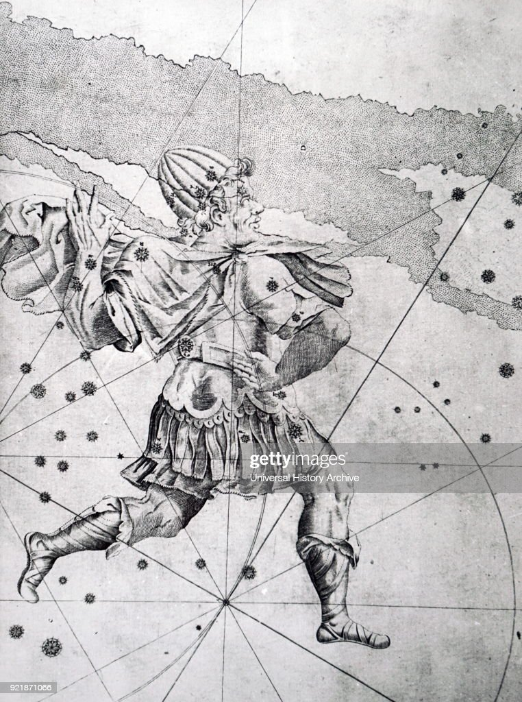Chart showing the constellation of Perseus. : News Photo