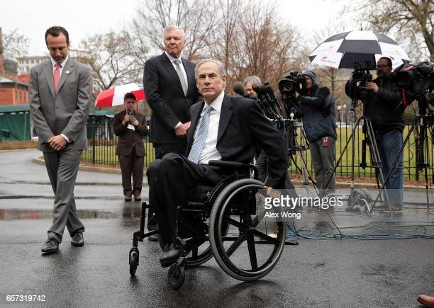 Charter Communications CEO Thomas Rutledge Texas Governor Greg Abbott and Assistant to the President for Intragovernmental and Technology Initiatives...
