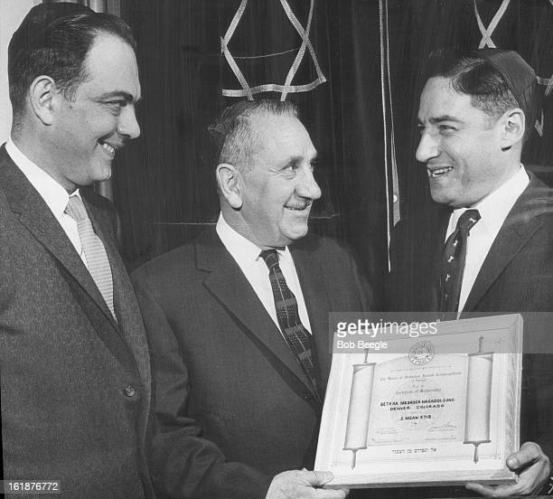 MAR 23 1958 MAR 24 1958 Charter Presented Moses M Katz center president of BMH Synagogue congregation receives charter in Union of Orthodox Jewish...