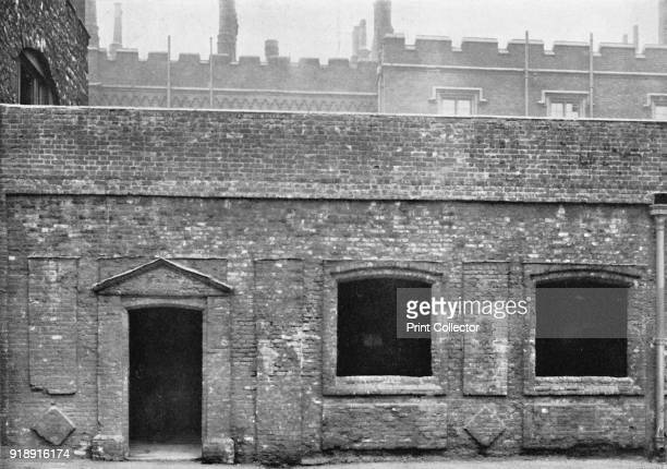 'Charterhouse Exterior of Cloister Alley' 1925 The London Charterhouse is a historic complex of buildings in Smithfield London dating back to the...