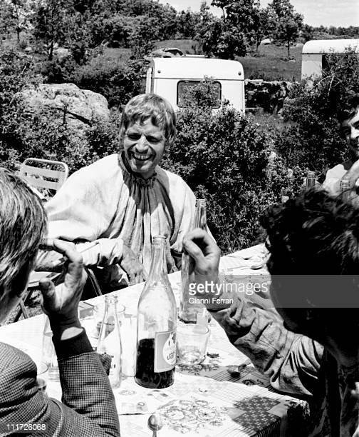 Charton Heston during the filming of the movie 'Julius Caesar' Madrid Spain