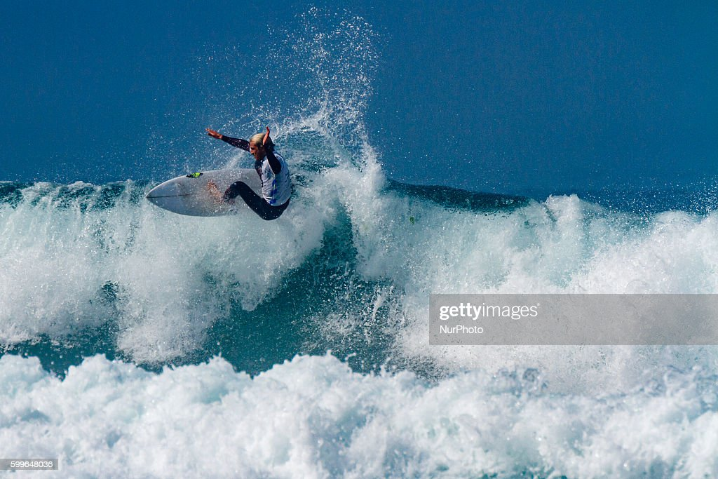 Charñy Martin during Pantin Classic Galicia Pro 2016, Qualifying Series 6,000 of World Surf League (WSL) celebrated in the Pantin beach, A Coruña, Galicia, Spain on 30 August - 4 September, 2016.