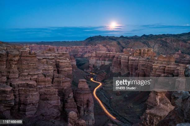 charyn canyon, kazakhstan - kazakhstan stock pictures, royalty-free photos & images