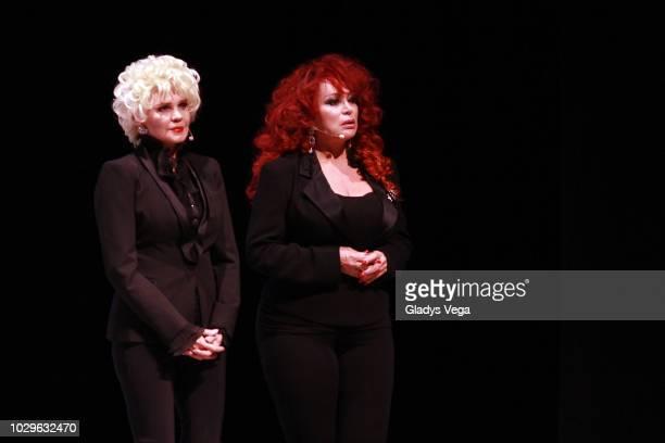 Charytin and Iris Chacon perform as part of the play 'Enchismas' at Centro de Bellas Artes de Caguas on September 8 2018 in Caguas Puerto Rico