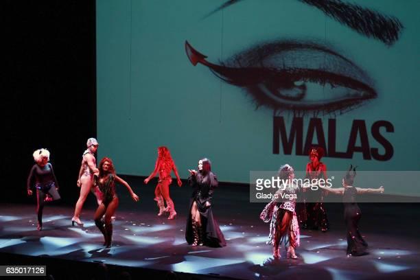 Charytin Bryan Villarini Zuleyka Rivera Maripily Luz Garcia Iris Chacon Giselle Blondet and Yolandita Monge perform as part of the play MALAS at...