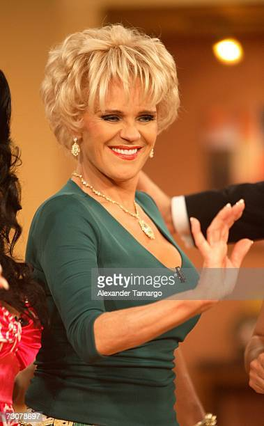 Charytin Goyco appears on the new set of Escandalo TV for their 5th Anniversay episode on January 22 2007 in Miami Florida