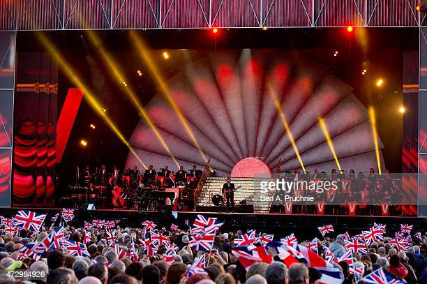 Chas and Dave performs during a concert on the 70th anniversary of VE Day at Horse Guards Parade on May 9 2015 in London England