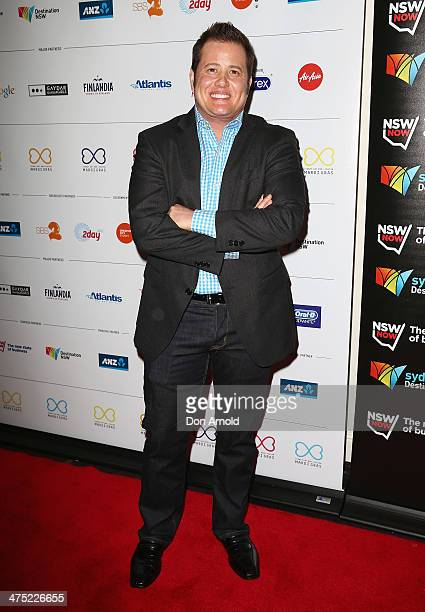 Chas Bono arrives at the 2014 Sydney Gay Lesbian Mardi Gras VIP Party on February 27 2014 in Sydney Australia