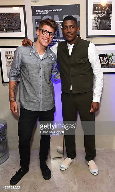 Chas Christiansen and Labrinth attends the launch of OAKLEY IN RESIDENCE LONDON a popup cycling destination and hangout for creative collaboration on...