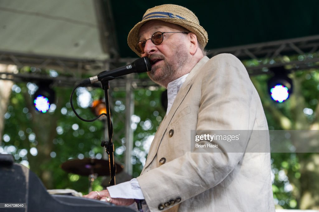 Chas Hodges of Chas & Dave performs on stage at Barclaycard British Summertime at Hyde Park on June 30, 2017 in London, England.