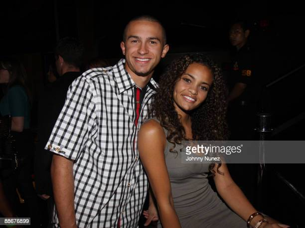 Chase Austin and Laneah attend Xxxtreme Motorsport's 2009 NBA Draft party at M2 Ultra Lounge on June 24, 2009 in New York City.