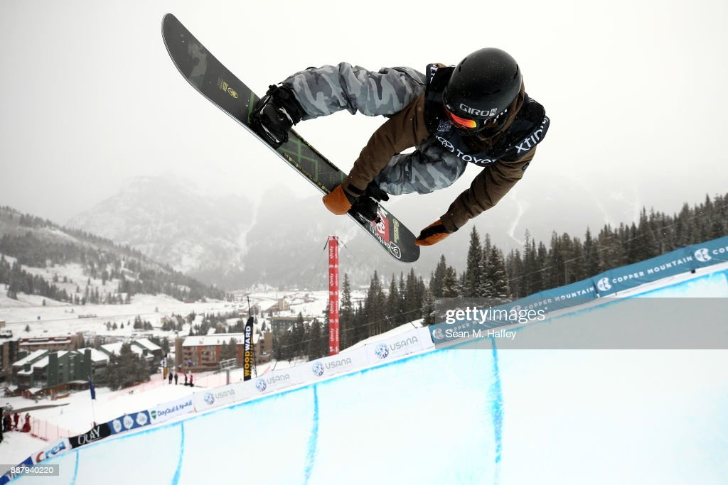 Chase Blackwell of the United States competes in a qualifying round of the FIS Snowboard World Cup 2018 Men's Snowboard Halfpipe during the Toyota U.S. Grand Prix on December 7, 2017 in Copper Mountain, Colorado.
