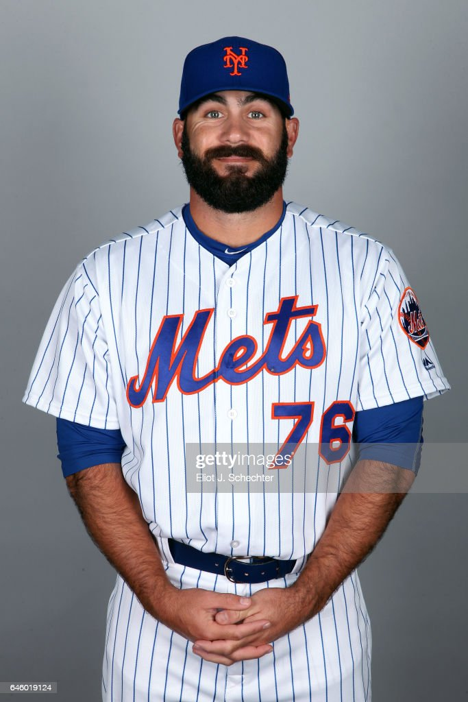Chase Bradford #76 of the New York Mets poses during Photo Day on Wednesday, February 22, 2017 at Tradition Field in Port St. Lucie, Florida.