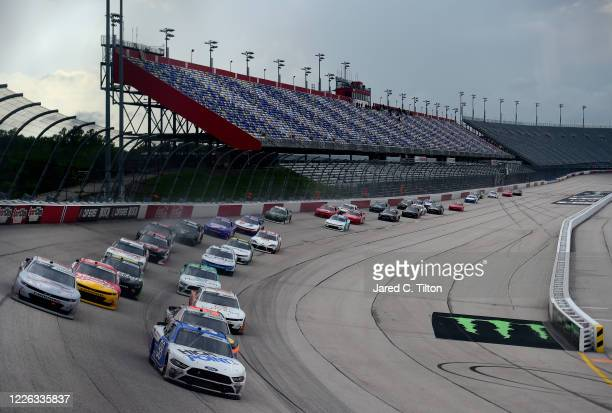 Chase Briscoe, driver of the HighPoint.com Ford, races during the NASCAR Xfinity Series Toyota 200 at Darlington Raceway on May 21, 2020 in...