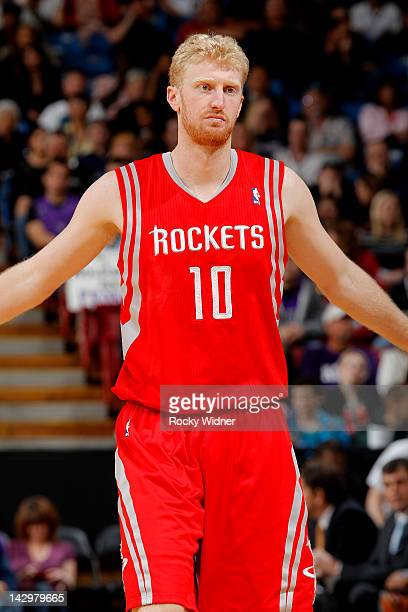 Chase Budinger of the Houston Rockets in a game against the Sacramento Kings on April 08 2012 at Power Balance Pavilion in Sacramento California NOTE...