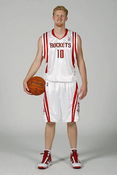 HOUSTON - SEPTEMBER 28  Chase Budinger  10 of the Houston Rockets poses for  a portrait during 2009 NBA Media Day on September 28 25bc35925