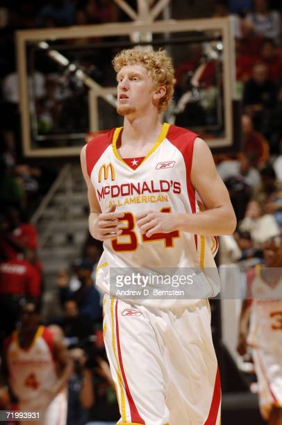 Chase Budinger of the West looks on against the East during the 2006 McDonald's All American High School Basketball game at Cox Arena on March 29...